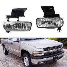 2000 Gmc Sierra Daytime Running Light Bulb Number Clear Lens Fog Lights Foglamp Kit With 880 Halogen Or White Led Bulbs For 1999 2002 Chevrolet Silverado 1500 2500 2000 2001 3500 2000 2006 Tahoe