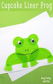 tree frog template cupcake liner frog craft easy peasy and fun