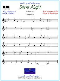Adaptations written by pianists, without unnecessary difficulty, made to be played Silent Night Piano Sheet Music Free Printable Pdf