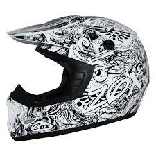 Zox 88 32022 Rush Sharpie Junior Small White Off Road Helmet