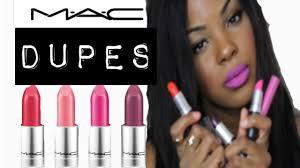 mac lipstick dupes swatches for um to dark skin nc45