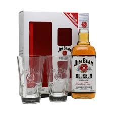 jim beam white label and 2 gles gift pack loading zoom