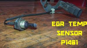 egr temp sensor p1401 testing and replacement