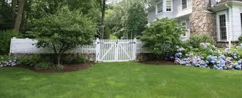 picket fence double gate. Wood-picket-fence-and-double-gate-by-atlas-outdoor-ct(3) Picket Fence Double Gate