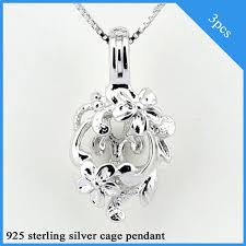 china whole 3pcs flower shaped 925 sterling silver cage pendants china sterling silver cage pendants sterling silver pendants