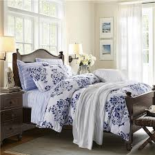 blue and white bedding navy blue and white victorian pattern flower print abstract design