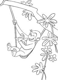 curious george coloring book pages