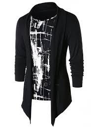Faux Twinset Panel Design Shirt Panel T Shirt