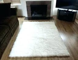 small white faux sheepskin rug target large black fur cushion stunning interior shee