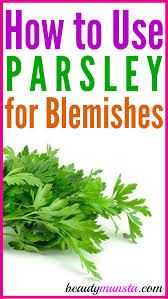 diy parsley face mask for blemishes