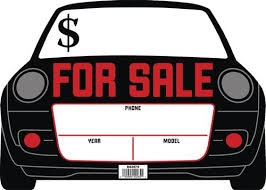 Automobile For Sale Sign