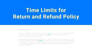 Return Or Cancellation Policy Template No Refund Policy Template ...