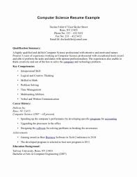 Computer Science Resume Example Cool 28 Luxury Collection Of Resume Format For Computer Science Science