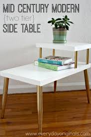 Mid Century Modern Two Tier Side Table Makeover!