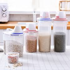 Buy 1 Piece <b>Rice Storage</b> Box <b>Large Capacity</b> Transparent Grain ...