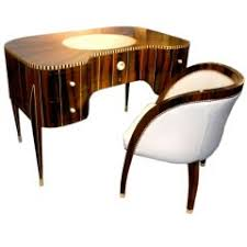 art deco furniture era. awesome art deco desk and chair in the style of ruhlmann furniture era