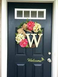 how to hang a wreath on front door front door hanging initial monogram door hanger wreath how to hang a wreath on front door