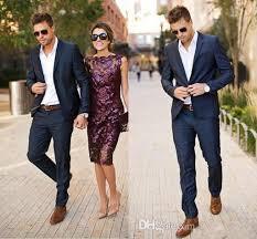 Mens Designer Suits Uk Hot Designer Navy Blue Stylish Tuxedos One Button Peak Label Mens Suits High Quality Trim Fit Groom Custom Made Suits Jacket Pants Q153 2015 Prom