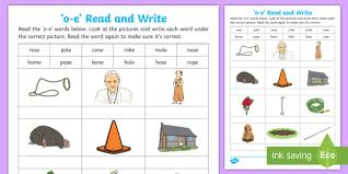 Kindergartners, teachers, and parents who homeschool their kids can print, download, or use the free. Magic E With O E Read And Write Worksheet Teacher Made