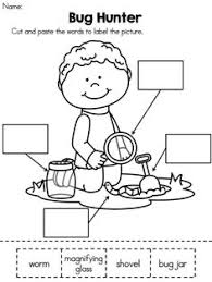 Cut and paste, Reading comprehension and Comprehension on PinterestBug Hunter >> Cut and paste label the picture activity >> Part of the