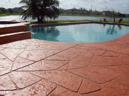 painted concrete pool deck