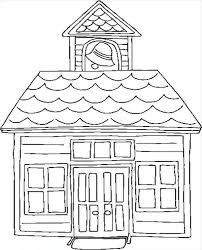 Small Picture Education School House Coloring Page Education School House