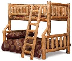Amish Log Furniture Rustic Bunk Beds  Pinterest