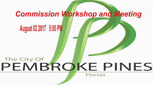 Pembroke Pines Commission Workshop Meeting Synopsis On Water Quality August 2 2017