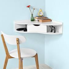 wall mounted home office. SoBuy Wall-mounted Triangle Corner Table,Home Office Desk Workstation,FWT26-W Wall Mounted Home