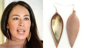 joanna gaines leather leaf earrings where to leather leaf earrings like joanna gaines
