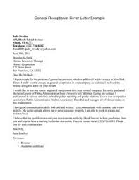 receptionist cover letter example httpjobresumesamplecom456 receptionist sample cover letter for office job