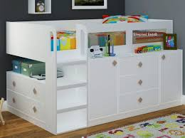 White Cabin Bed With Storage And Desk Beech Childrens .