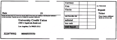 deposit slip examples edb general info section b4 check disposition