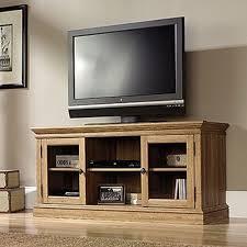 Tv Stands For 50 Flat Screens Sauder Barrister Lane Scribed Oak Storage Entertainment Center