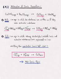 molecular equations ionic equations net ionic equations