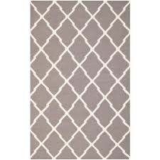 safavieh dhurries dark grey ivory 6 ft x 9 ft area rug