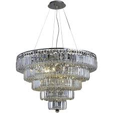 elegant lighting v2036d30c rc mini chandeliers chrome maxime