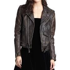 women s asymmetrical zipper biker distressed leather jacket zoom women s asymmetrical