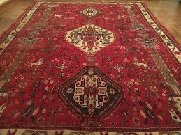 magnificent shiraz carpet from iran authentic handmade persian 255 187 cm auctions
