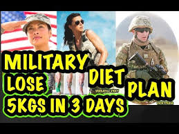 Military Diet Chart India Military Diet Plan Lose 5 Kgs In 3 Days Youtube