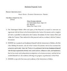 Business proposal letter for a new business