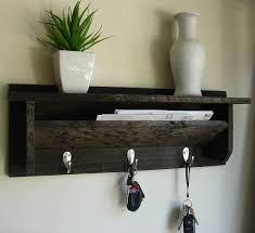 Rustic Entryway Coat Rack Modern Rustic Entryway Coat Rack Shelf and Mail Phone Key Organizer 82