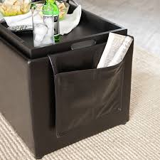hartley coffee table storage ottoman with tray side ottomans side pocket com