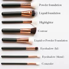 diffe makeup brushes and their uses
