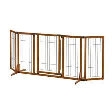 wide wood premium plus pet gate wide pet gates w65