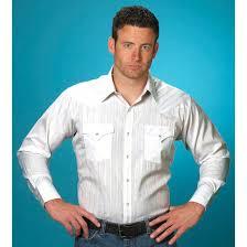 Mens Ely Cattleman Long Sleeve Lurex Snap Western Shirt
