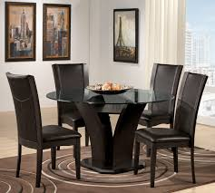 Round Table Dining Room Sets Casual 5 Piece Round Pedestal Dining Room Set 2516 48 5 Set At