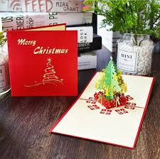 Gift Cards For Christmas Merry Christmas Gift Cards 3d Xmas Tree Laser Pop Up Folding Type Greeting Card For Navidad Natal New Year Party Favors Cards Buy Online Gift Cards