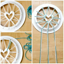 How Dream Catchers Are Made Paper Plate Crafts Dream Catchers with Hearts Red Ted Art's Blog 52