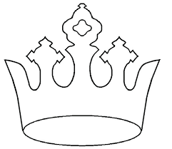 Crown Template Extraordinary Large Crown Template Prince Crown Images Of Large Printable Large